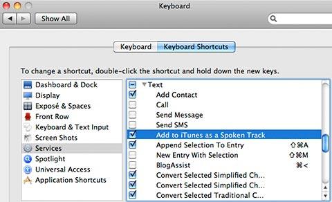 Keyboard Preferences