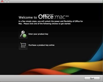 Microsoft Office 2011 for Mac splash screen