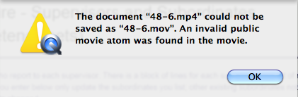 Invalid public movie atom error