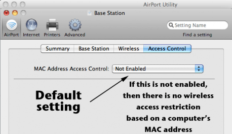 MAC Address Access Control