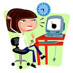 CoWoman facing critical deadline when computer crashes