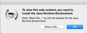 To view web content, install Java Runtime