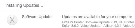 Installing Software Updates