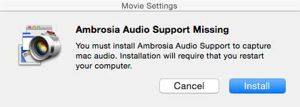 Ambrosia Audio Support Missing