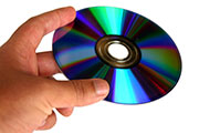Hand Holding DVD Disc