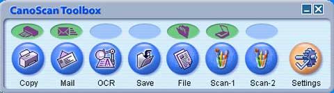 CanoScan toolbox dialog window