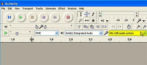 Audacity Sound Input Settings