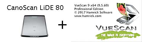 Canon LiDE 80 and VueScan 9