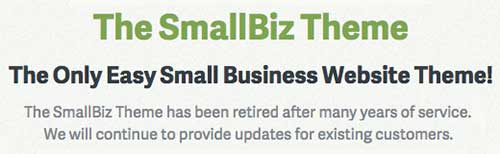 smallbiz theme has been retired