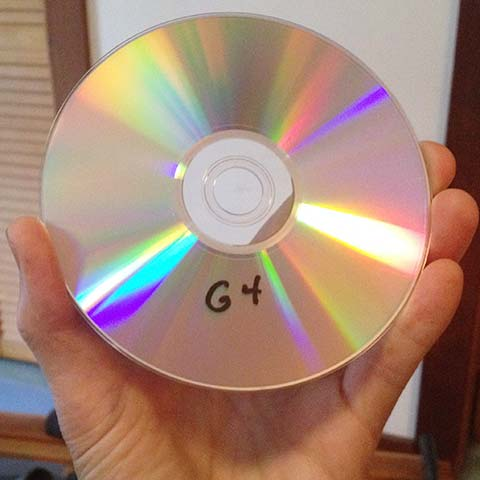 burned dvd disc from powerbook g4 data