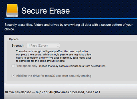 using drive genius 5 to securely erase hard drive