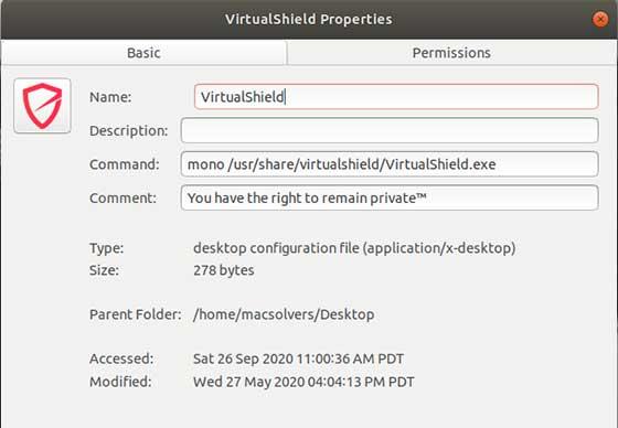VirtualShield desktop configuration file